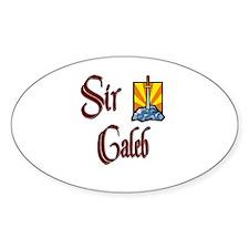 Sir Caleb Oval Decal