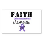 Faith Leiomyosarcoma Rectangle Sticker 50 pk)