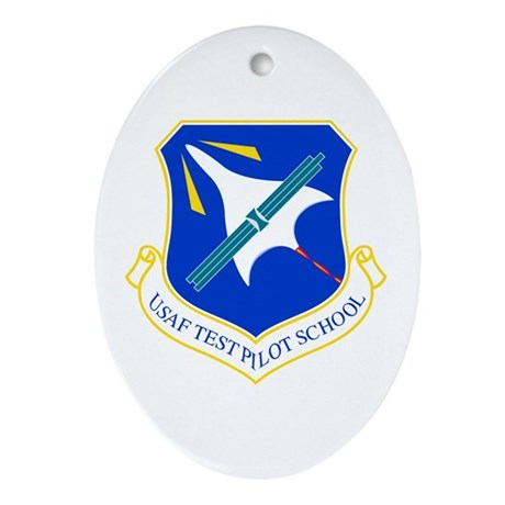Test Pilot School Oval Ornament