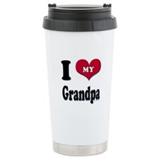 I Love My Grandpa Ceramic Travel Mug