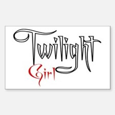 Twilight Girl Rectangle Decal