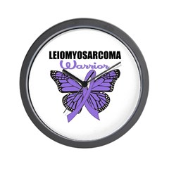 Leiomyosarcoma Warrior B Wall Clock
