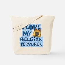 I Love my Tervuren Tote Bag (Cartoon)