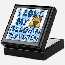 I Love my Tervuren Keepsake Box