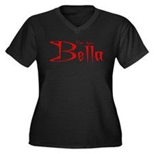I'm his Bella Women's Plus Size V-Neck Dark T-Shir