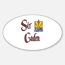 Sir Caden Oval Decal
