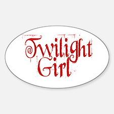 Twilight Girl Oval Decal