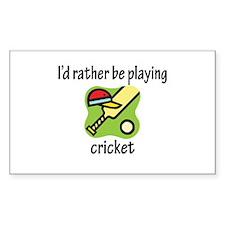Playing Cricket Rectangle Sticker 10 pk)