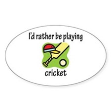 Playing Cricket Oval Decal