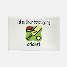 Playing Cricket Rectangle Magnet