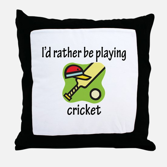Playing Cricket Throw Pillow