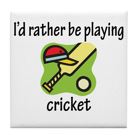 Playing Cricket Tile Coaster