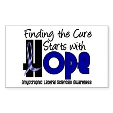 HOPE ALS 4 Rectangle Decal