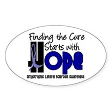 HOPE ALS 4 Oval Decal