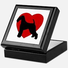 Airedale Terrier Valentine's Day Keepsake Box