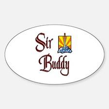 Sir Buddy Oval Decal
