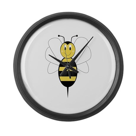 Smiling Bumble Bee Large Wall Clock