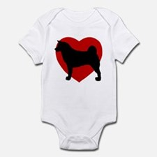Akita Valentine's Day Infant Bodysuit