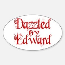 Dazzled by Edward Oval Decal