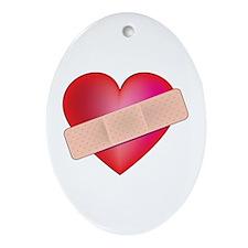 Healing Heart Oval Ornament