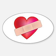 Healing Heart Oval Decal