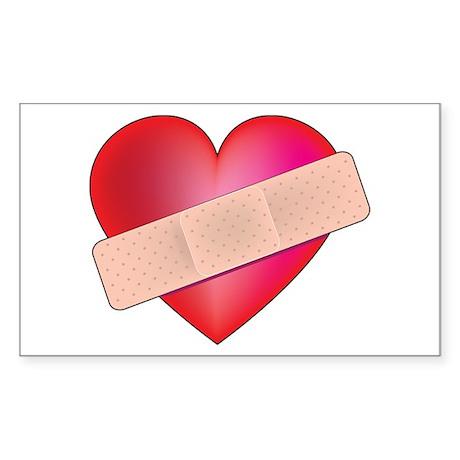 Healing Heart Rectangle Sticker