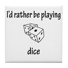 Playing Dice Tile Coaster