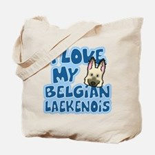 I Love my Laekenois Tote Bag (Cartoon)