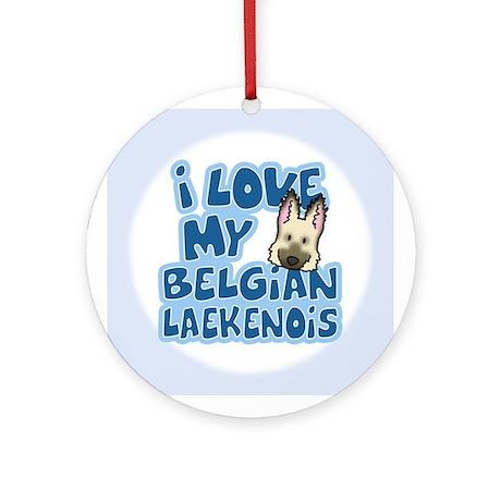 I Love my Laekenois Ornament (Cartoon)