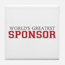World's Greatest Sponsor Tile Coaster