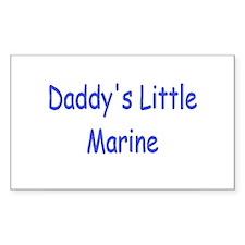 Daddy's Little Marine Rectangle Sticker 10 pk)