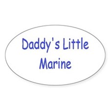 Daddy's Little Marine Oval Decal