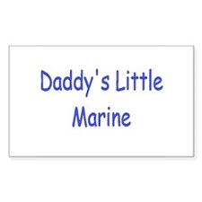 Daddy's Little Marine Rectangle Decal