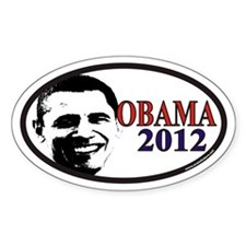 Barack Obama 2012 Euro Oval Decal