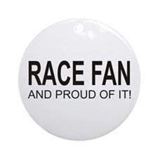 Proud Race Fan Ornament (Round)