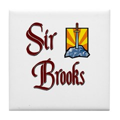 Sir Brooks Tile Coaster