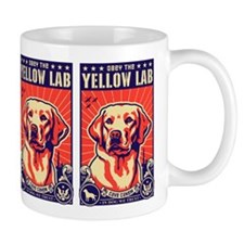 "Obey the Yellow Lab USA ""Freedom"" Mug"