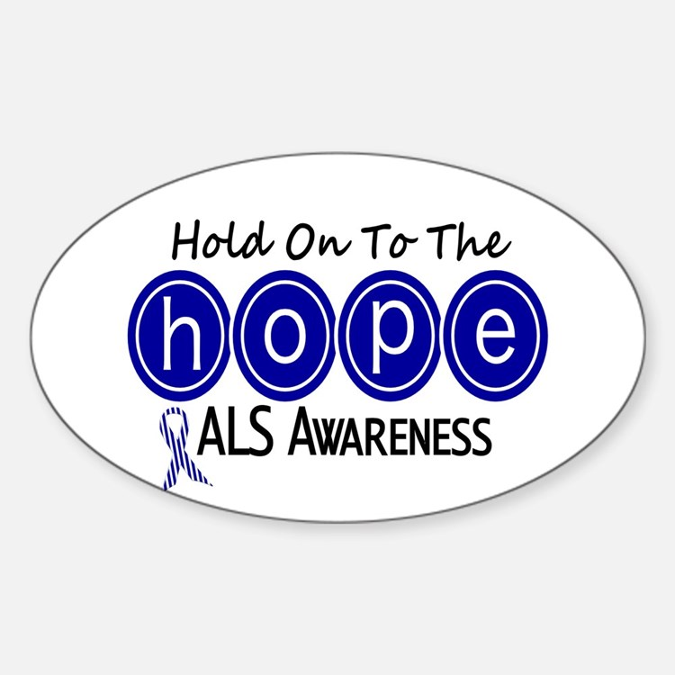 HOPE ALS 6 Oval Decal