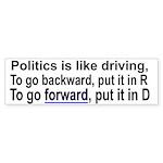 Politics is like driving