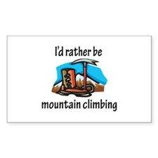 Rather Be Mountain Climbing Rectangle Sticker 50