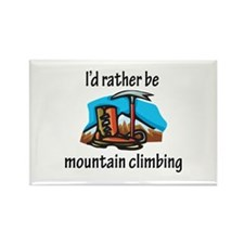 Rather Be Mountain Climbing Rectangle Magnet (100