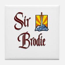 Sir Brodie Tile Coaster