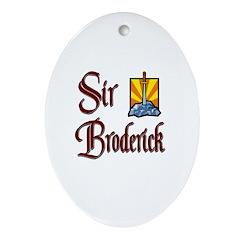 Sir Broderick Oval Ornament