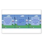 Golf Quotes Tri Rectangle Sticker