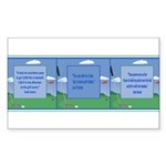 Golf Quotes Tri Rectangle Sticker 10 pk)