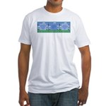 Golf Quotes Tri Fitted T-Shirt