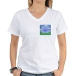 Golf Quotes Sneed Women's V-Neck T-Shirt