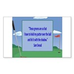Golf Quotes Sneed Rectangle Sticker 10 pk)
