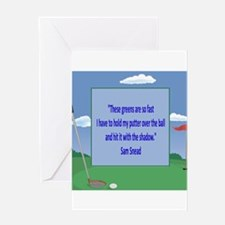 Golf Quotes Sneed Greeting Card