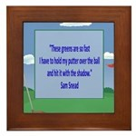 Golf Quotes Sneed Framed Tile